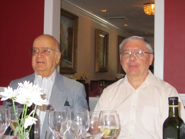 Alvaro lópez, Vice President and Juan Luis Colaiacovo, President del Club del Vino