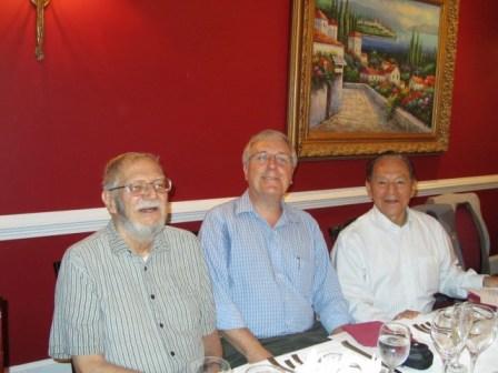 Euro Alves com Cecilio-Augusto Berndsen e Bolivar Cobos