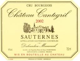 2001 Chateau Cantegril SAUTERNES