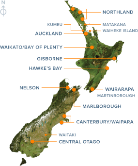 WINE REGIONS OF NZ